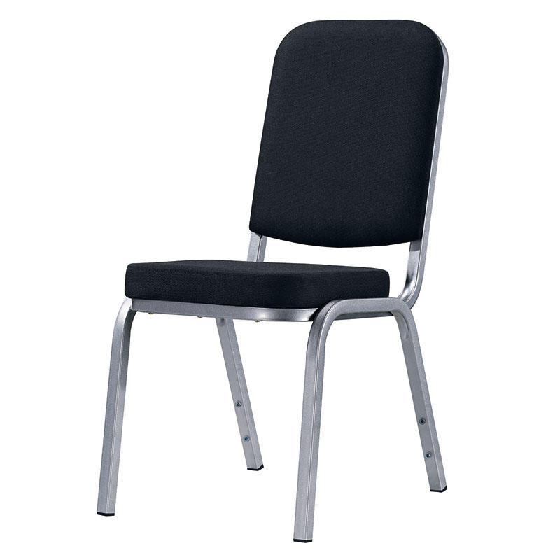 Black Upholstered Hotel Meeting Room Aluminum Chair YD-1024