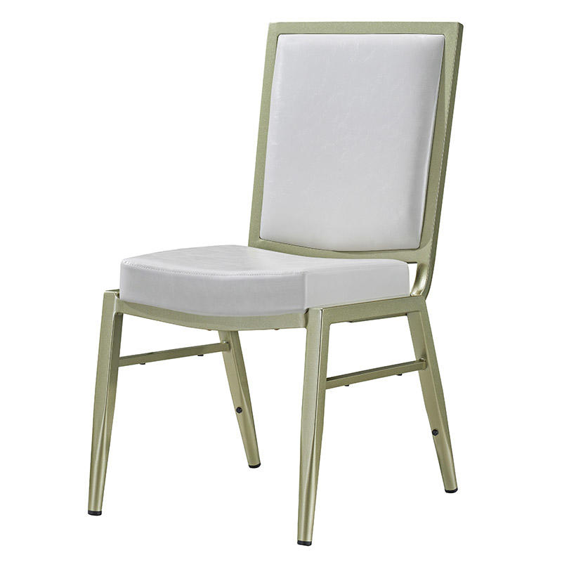 Pure White Aluminum Stacking Chair #YD-1026