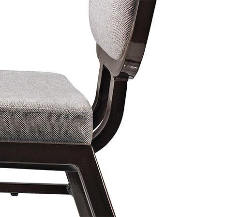 stack black room San Dun Brand aluminium dining chairs manufacture