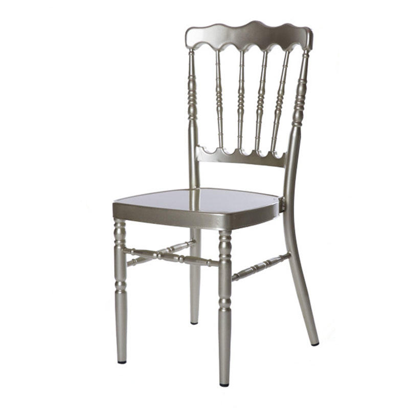 White Hotel Napoloen Aluminum Chair For Party Event Restaurant YC-014