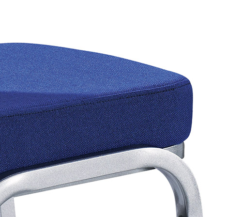Hot Sale Navy Blue Fabric Flexible Back Stacking Hotel Banquet Conference Chair-5