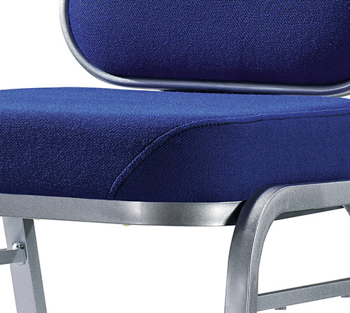 Hot Sale Navy Blue Fabric Flexible Back Stacking Hotel Banquet Conference Chair-6