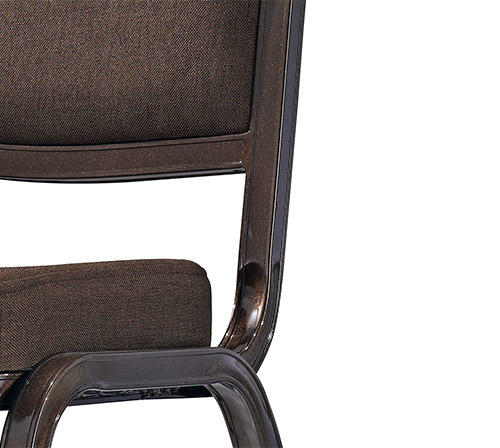 Strong Aluminum Farme Fabric Upholstered Banquet Restaurant Stacking Chair-3