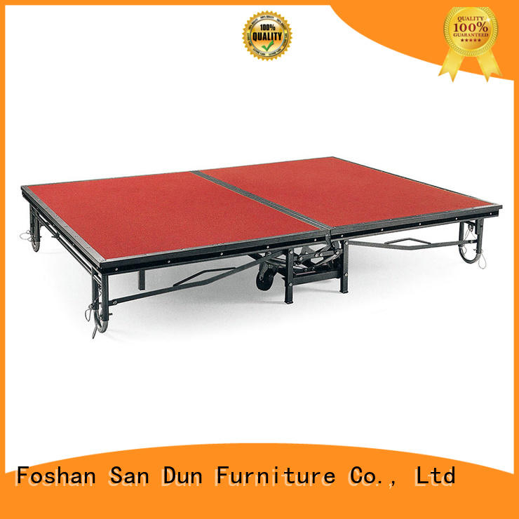 Heavy-Duty Design Hotel Mobile Folding Stage -B