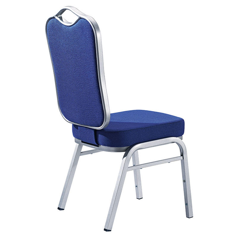 Hot Sale Navy Blue Fabric Flexible Back Stacking Hotel Banquet Conference Chair-2