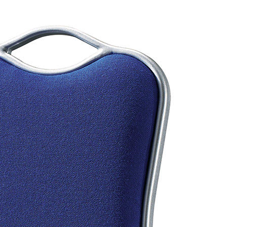 Hot Sale Navy Blue Fabric Flexible Back Stacking Hotel Banquet Conference Chair-3
