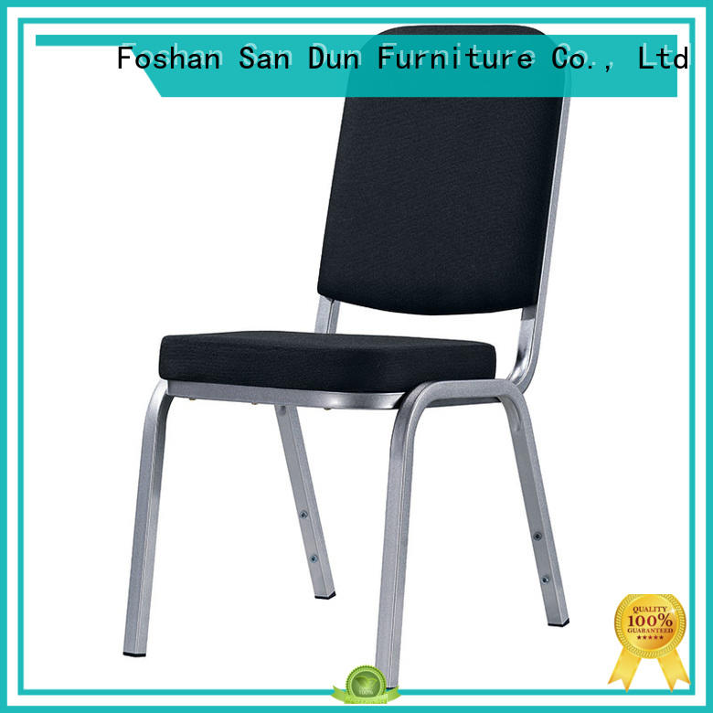 Black Upholstered Hotel Meeting Room Aluminum Chair YD-1024