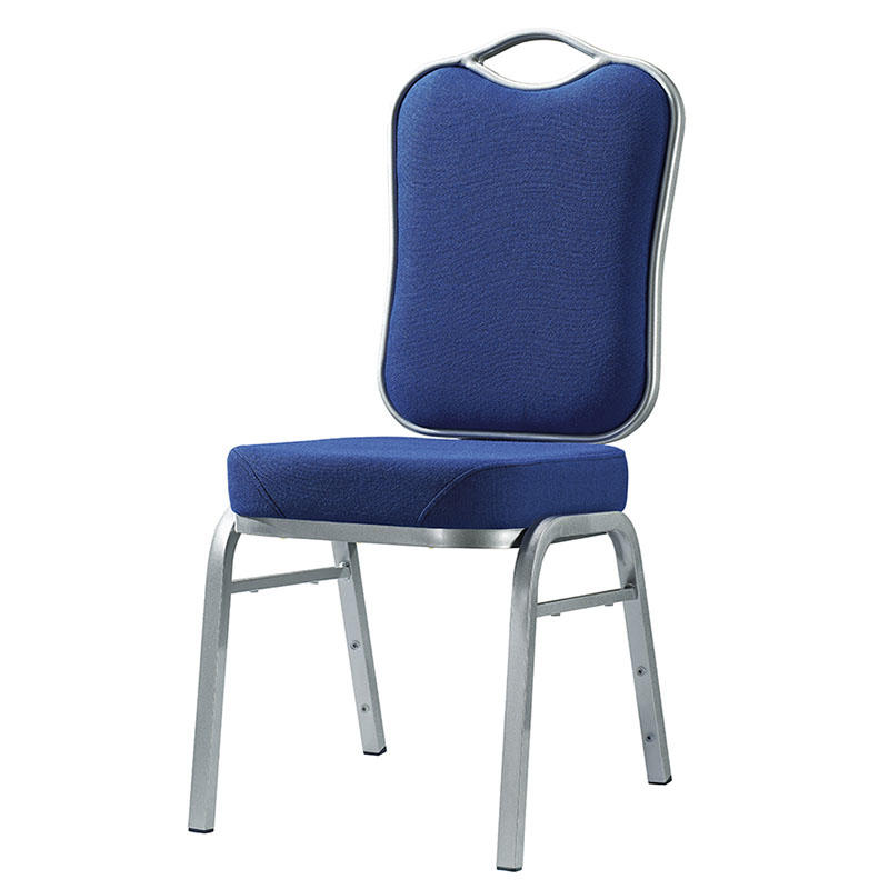 Hot Sale Navy Blue Fabric Flexible Back Stacking Hotel Banquet Conference Chair-1