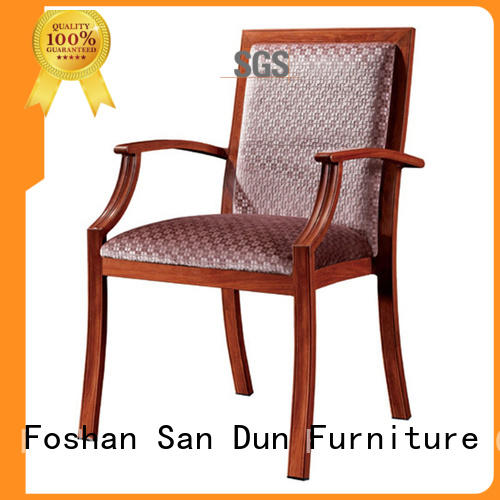 WOOD ARM CHAIR RESTAURANT CAFETERIA METAL WOODEN CHAIR #YA-1052
