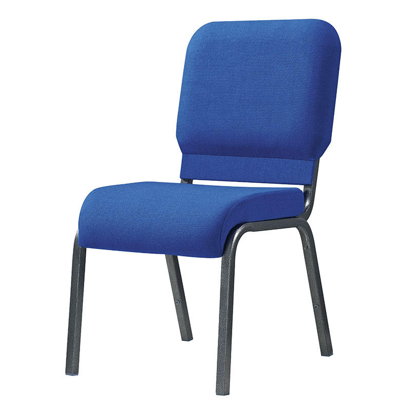 Navy Blue Upholstered Steel Stacking Church Chair YE-057