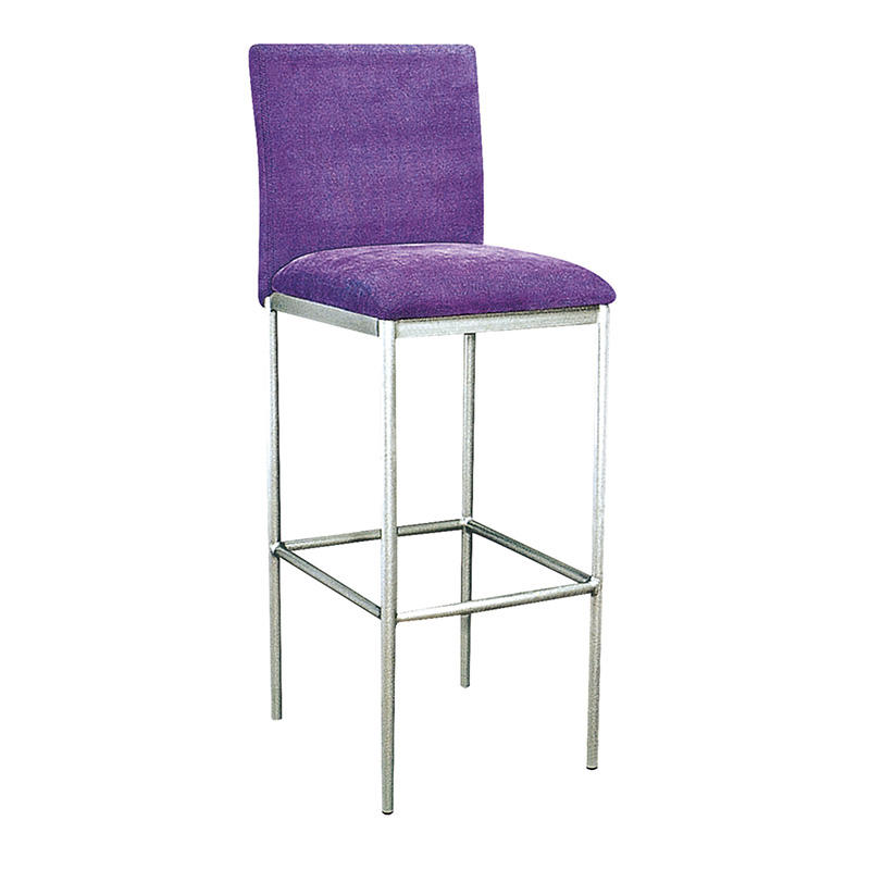 SILVER PAINTING COLOR FABRIC UPHOLSTERED STEEL BAR STOOL #YA-066