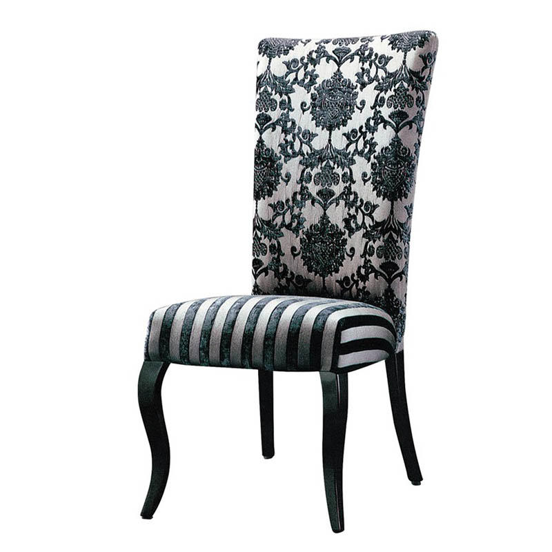 BLACK PAINTING VELVET HOSPITALITY METAL WOODEN CHAIR #YA-1044
