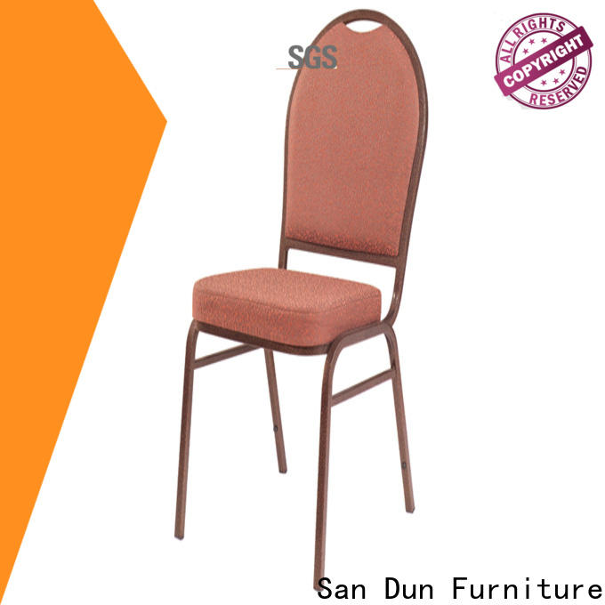 San Dun new steel chair for dining table with good price for cafes