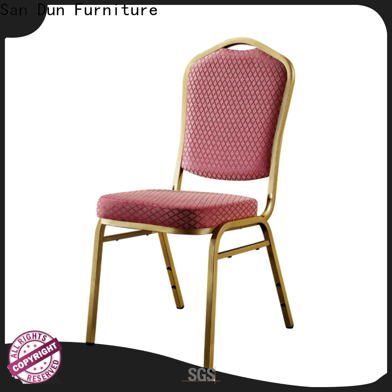 San Dun top quality brushed steel dining chairs manufacturer for cafes