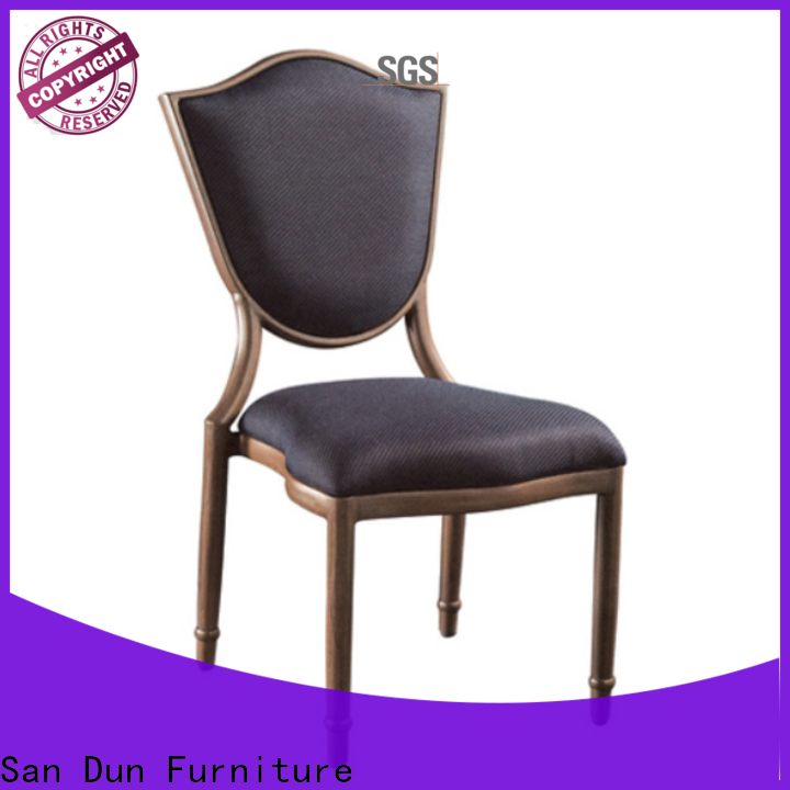 San Dun black steel chairs suppliers for restaurant