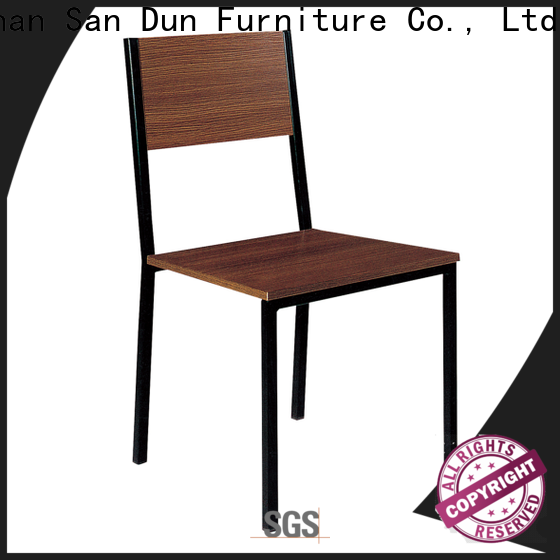 San Dun steel table chair best supplier for coffee shop