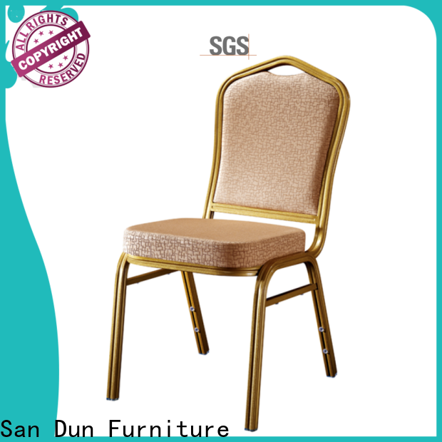 San Dun aluminium stacking chairs with good price for hotel banquet