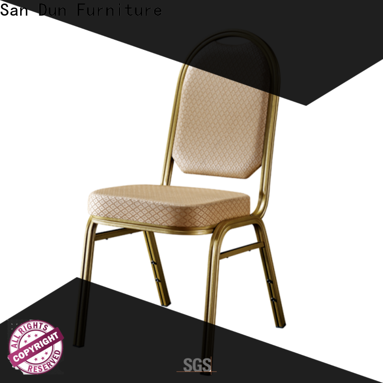 San Dun aluminum banquet chair factory for restaurant