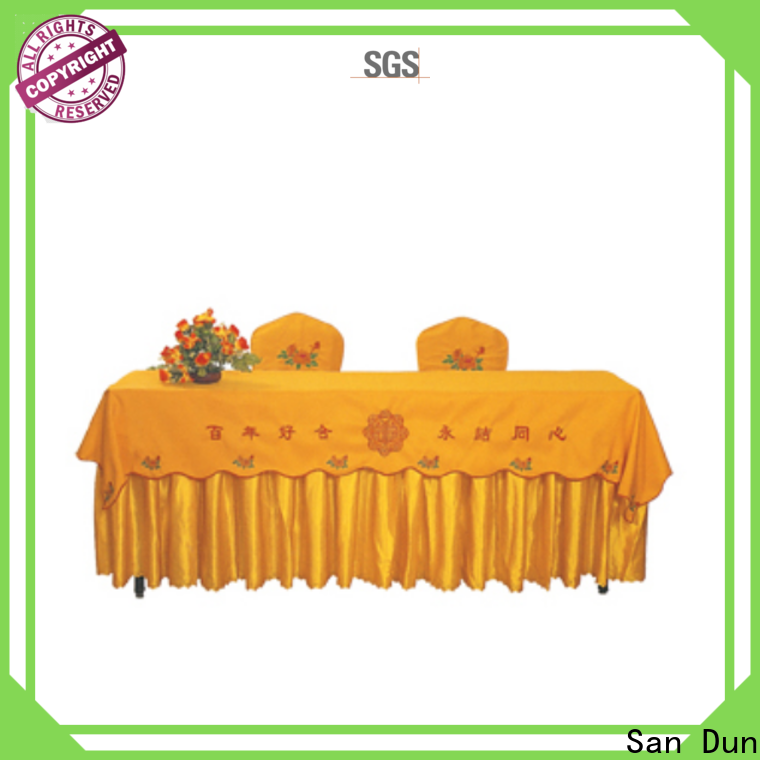 San Dun factory price table linens for wedding reception factory for banquet