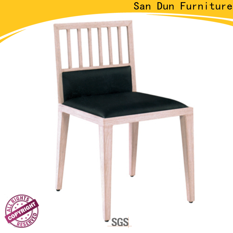 San Dun high quality black wood dining chairs factory direct supply for sale