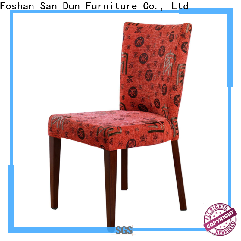 San Dun elegant wood chair with upholstered seat with good price for promotion