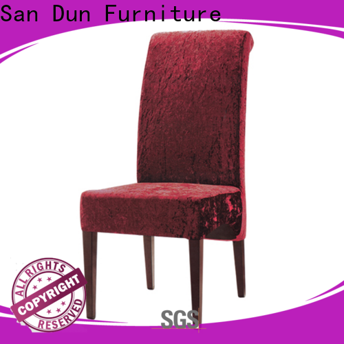 San Dun high-quality wood dining chairs with upholstered seats factory for restaurant