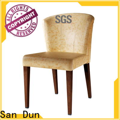 San Dun wooden padded dining chairs manufacturer for dining