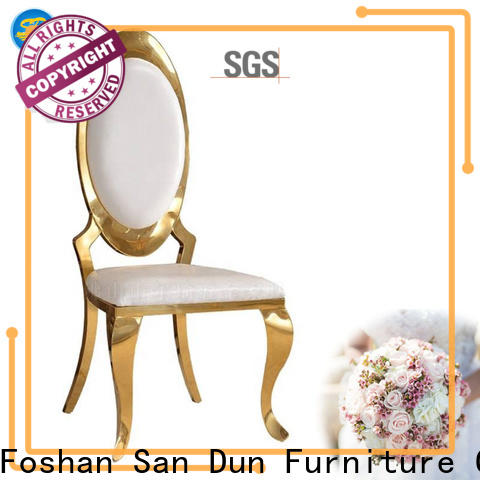 San Dun low-cost stainless steel chairs for sale suppliers for hotel