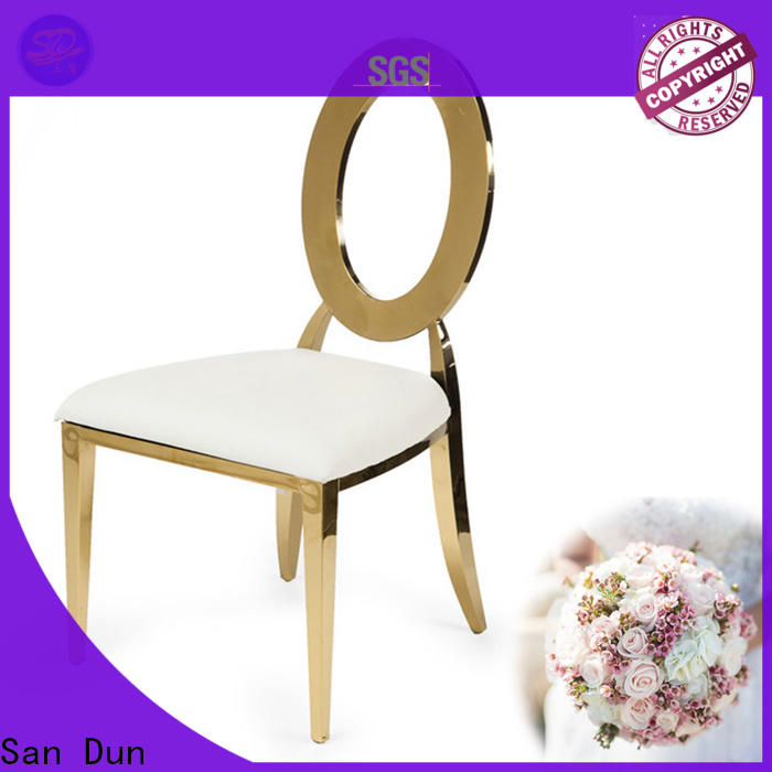 San Dun stainless steel chairs for sale factory direct supply for restaurant
