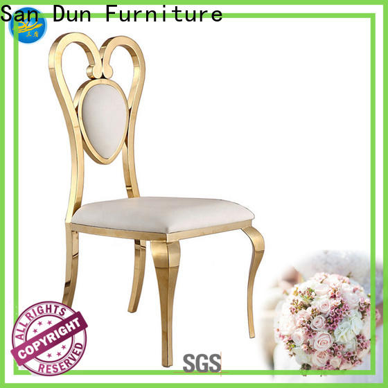 San Dun stainless steel lounge chair best manufacturer for restaurant