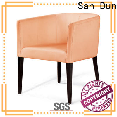 San Dun wooden padded dining chairs factory direct supply for sale