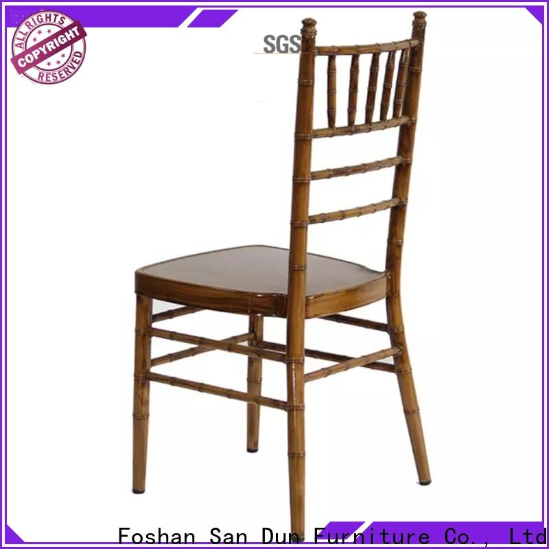 San Dun hot-sale stackable chiavari chairs best supplier for coffee shop
