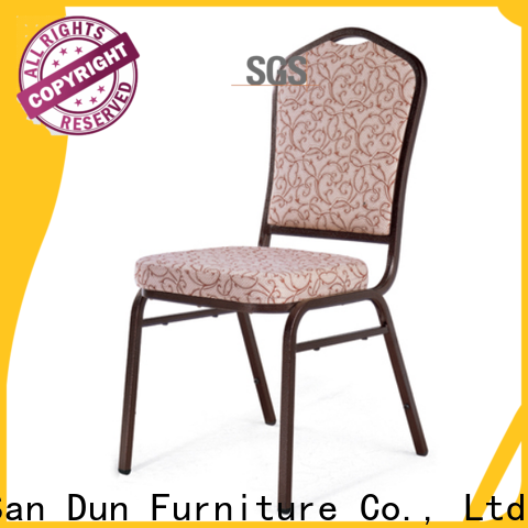 San Dun hot selling steel chair with cushion with good price for restaurant