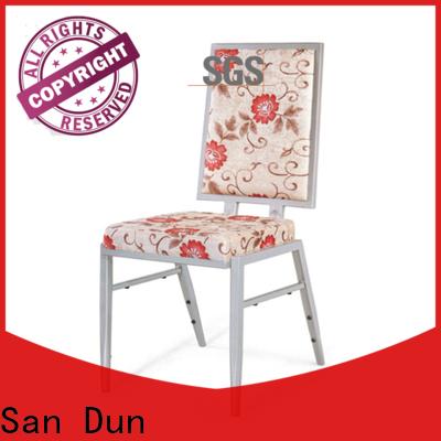 San Dun best price modern steel dining chairs suppliers for restaurant