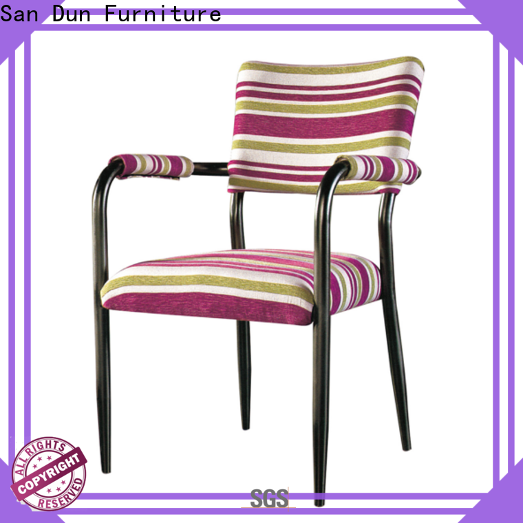 San Dun durable steel frame dining chairs factory direct supply for coffee shop