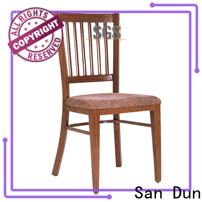 San Dun popular metal chairs with cushions series bulk production