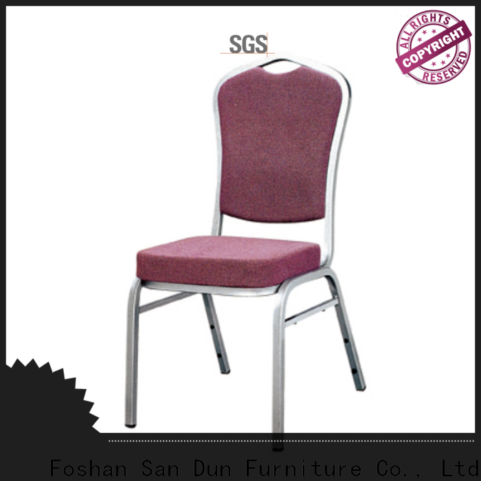 promotional stackable aluminum patio chairs supply for restaurant