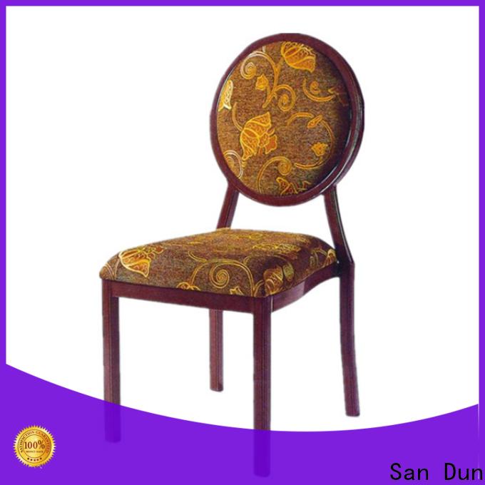 San Dun aluminium stacking garden chairs supplier for coffee shop