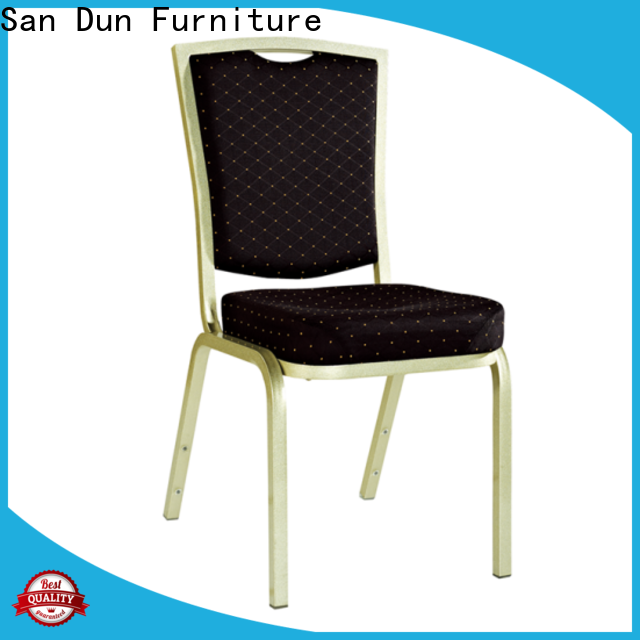 San Dun best value stackable aluminum patio chairs series for conference