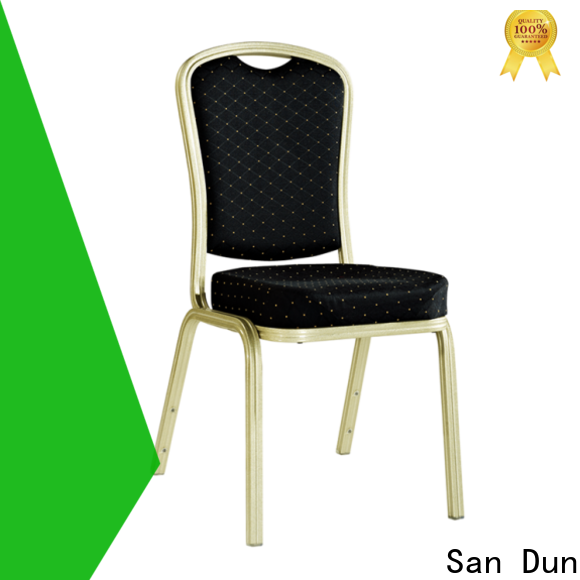 San Dun factory price aluminium stacking garden chairs suppliers for hotel banquet