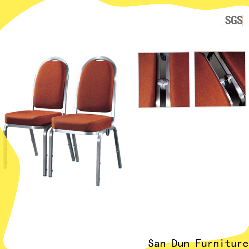 San Dun elegant stackable aluminum chairs with good price for hotel banquet