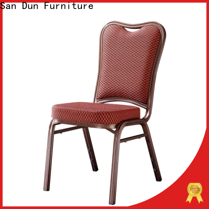 San Dun stackable aluminum chairs from China for conference