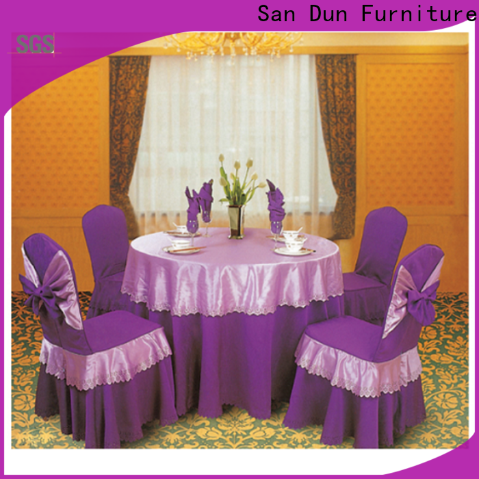 San Dun best price cheap table covers for wedding reception factory bulk buy