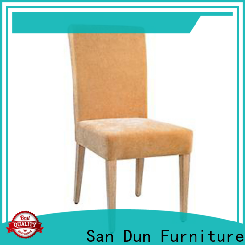 excellent wooden padded dining chairs from China for party