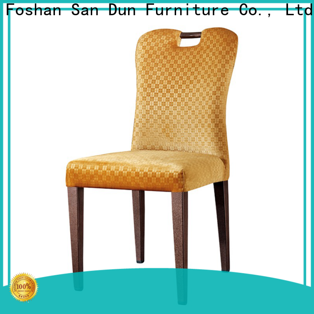 San Dun high quality black wood dining chairs factory for hotel