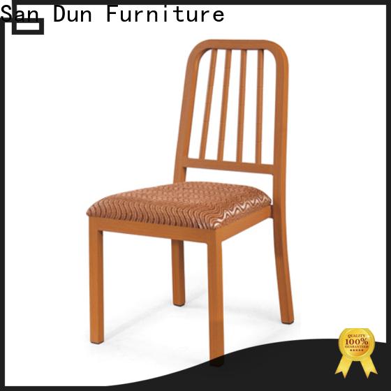 San Dun best value wooden padded dining chairs best manufacturer for restaurant