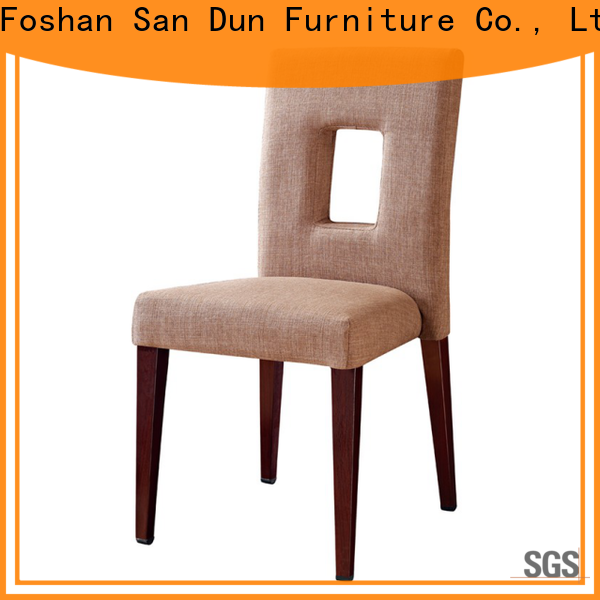 San Dun ya003 wooden chair with fabric seat supplier for promotion