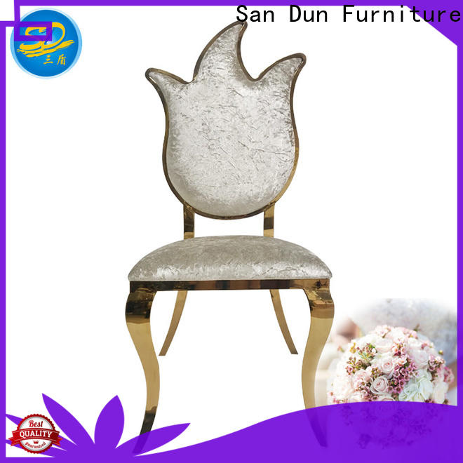 San Dun dining chairs with stainless steel legs manufacturer for dresser