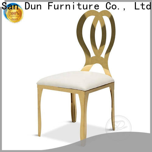 San Dun latest stainless steel chairs designs directly sale for hotel