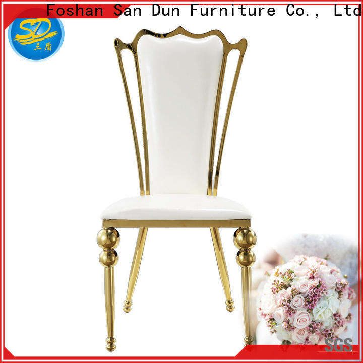 hot-sale stainless steel dining room chairs from China for dresser